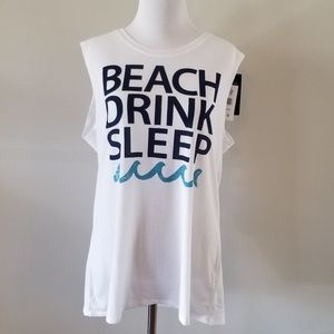 NWT Chaser | Beach Drink Sleep Graphic Tank